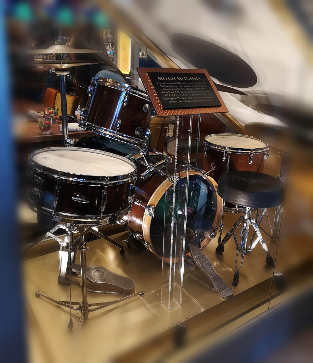 Drun set belonging to Mitch Mitchell from Jimi Hendrix experience