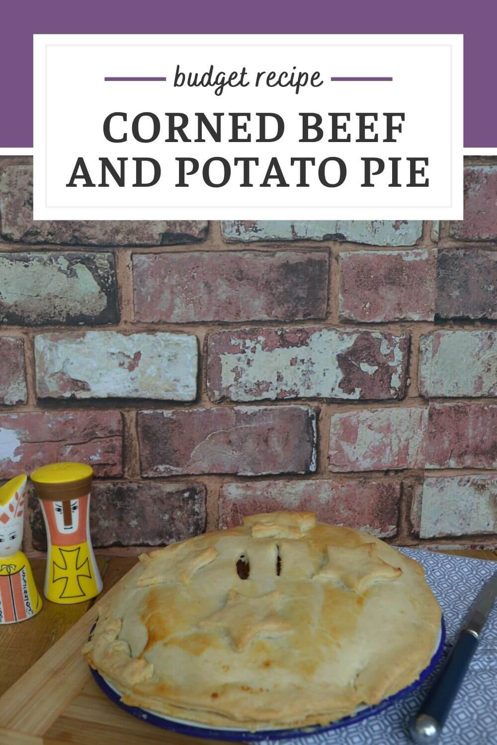 Corned beef and potato pie is an easy budget recipe that tastes amazing. Serve hot or cold as part of a picnic or buffet.