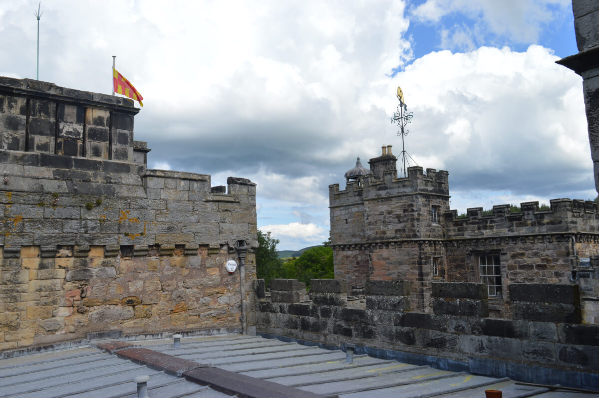 The rooftops at Chillingham castle