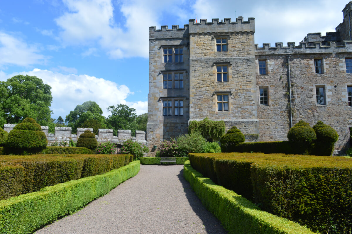 The outside of Chillingham castle